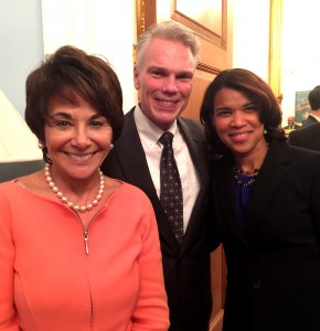 Congresswoman Anna G. Eshoo (D-California), Brad Smith, Pres/CEO of Intuit and Kemba Smith-Pradia